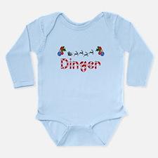 Dinger, Christmas Long Sleeve Infant Bodysuit