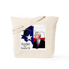 ChrisBell, TX GOV Tote Bag