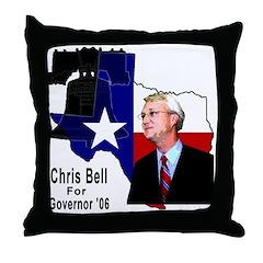 ChrisBell, TX GOV Throw Pillow