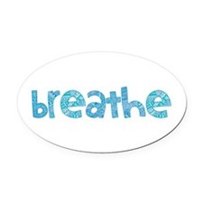 Tribal Breathe (Red or Blue) Oval Car Magnet