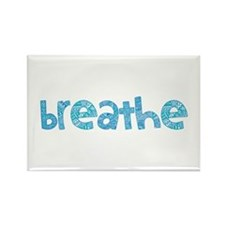 Tribal Breathe (Red or Blue) Rectangle Magnet