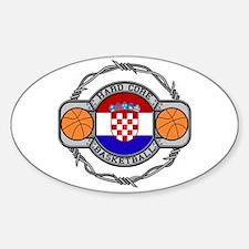 Croatia Basketball Oval Decal