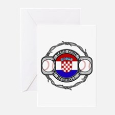 Croatia Baseball Greeting Cards (Pk of 10)