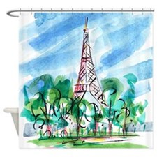 Shower Curtain: Eiffel Tower