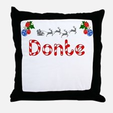 Donte, Christmas Throw Pillow
