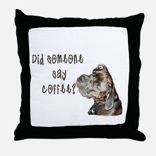 Did someone say coffee? Throw Pillow