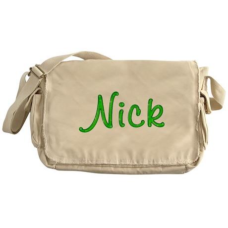 Nick Glitter Gel Messenger Bag
