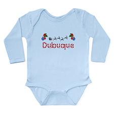 Dubuque, Christmas Long Sleeve Infant Bodysuit