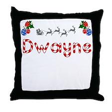 Dwayne, Christmas Throw Pillow