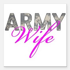 "ACU Army Wife Square Car Magnet 3"" x 3"""