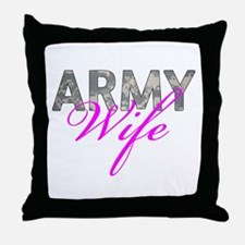 ACU Army Wife Throw Pillow