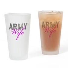 ACU Army Wife Drinking Glass