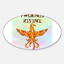 Phoenix Rising Oval Decal