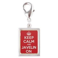 Keep Calm Javelin Silver Portrait Charm