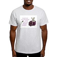 Pit Bull Terrier (White) Ash Grey T-Shirt