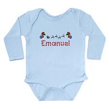 Emanuel, Christmas Long Sleeve Infant Bodysuit