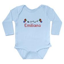 Emiliano, Christmas Long Sleeve Infant Bodysuit
