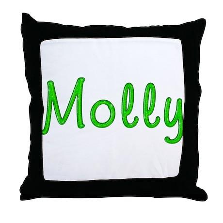 Molly Glitter Gel Throw Pillow