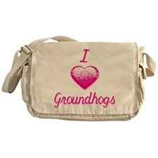 I Love/Heart Groundhogs Messenger Bag