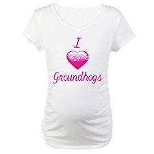 I Love/Heart Groundhogs Shirt