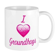 I Love/Heart Groundhogs Mug