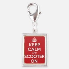Keep Calm Scooter Silver Portrait Charm