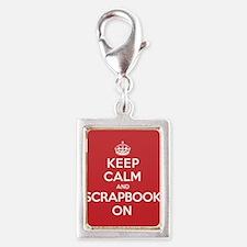 Keep Calm Scrapbook Silver Portrait Charm