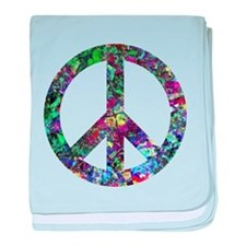 Colorful Peace Sign baby blanket