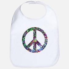 Colorful Peace Sign Bib
