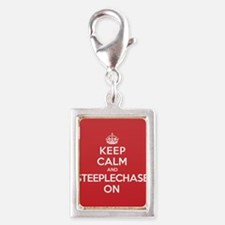 Keep Calm Steeplechase Silver Portrait Charm
