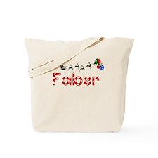 Faber, Christmas Tote Bag