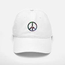 Colorful Peace Sign Baseball Baseball Cap