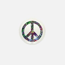 Colorful Peace Sign Mini Button (10 pack)