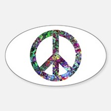 Colorful Peace Sign Decal