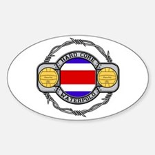 Costa Rica Water Polo Oval Decal