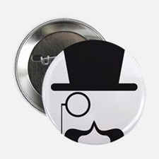Face with hat, mustache and single eyeglass 2.25""
