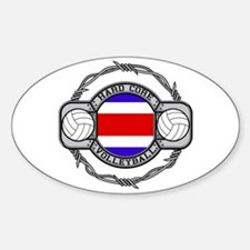 Costa Rica Volleyball Oval Decal