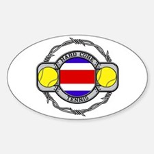 Costa Rica Tennis Oval Decal