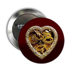 """Clockwork Heart 2.25"""" Button (10 pack)"""