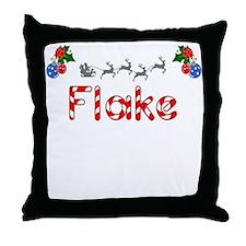 Flake, Christmas Throw Pillow