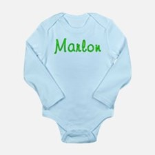 Marlon Glitter Gel Long Sleeve Infant Bodysuit