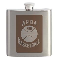 APBA Basketball Card Flask