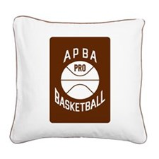 APBA Basketball Card Square Canvas Pillow