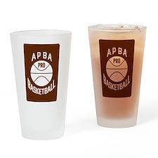 APBA Basketball Card Drinking Glass