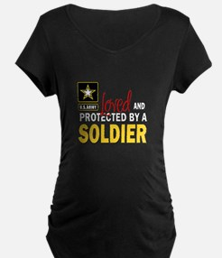 Loved Protected Soldier Maternity T-Shirt