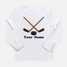 Personalized Hockey Long Sleeve Infant T-Shirt