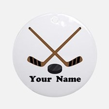 Personalized Hockey Ornament (Round)