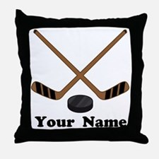 Personalized Hockey Throw Pillow