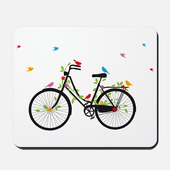 Old vintage bicycle with flowers and birds Mousepa
