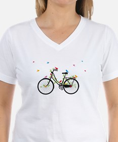 Old vintage bicycle with flowers and birds Shirt